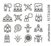 business management icons | Shutterstock .eps vector #517216108