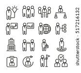 business management icons | Shutterstock .eps vector #517216132