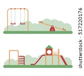 playground kids playing... | Shutterstock .eps vector #517220176