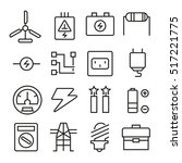 electricity icons | Shutterstock .eps vector #517221775
