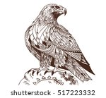 vector hand drawn bird of prey. ...   Shutterstock .eps vector #517223332