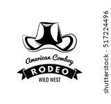Cowboy Hat. Wild West Label....
