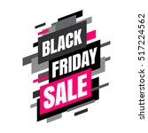 black friday sale banner  black ... | Shutterstock .eps vector #517224562