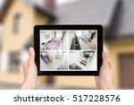 home camera cctv monitoring...   Shutterstock . vector #517228576