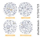 doodle vector illustrations of... | Shutterstock .eps vector #517241725