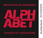 decorative alphabet vector font.... | Shutterstock .eps vector #517254292