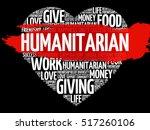 humanitarian heart word cloud... | Shutterstock .eps vector #517260106