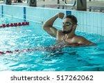 swimmer man. happiness swimming ... | Shutterstock . vector #517262062