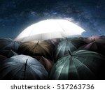 umbrella lights glowing... | Shutterstock . vector #517263736