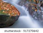 flowing water   river cascade... | Shutterstock . vector #517270642
