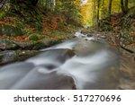 flowing water   river cascade... | Shutterstock . vector #517270696
