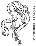 tattoo of woman with two tails | Shutterstock .eps vector #51727783