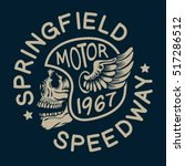 motorcycle skull typography  t... | Shutterstock .eps vector #517286512