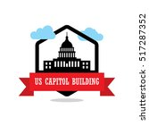 us capitol building ribbon... | Shutterstock .eps vector #517287352