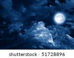 magic moon in the night sky | Shutterstock . vector #51728896