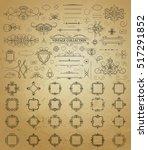 set vintage borders  frame and... | Shutterstock .eps vector #517291852