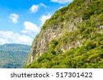 rocks of sumidero canyon... | Shutterstock . vector #517301422