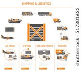 shipping and logistics concept... | Shutterstock .eps vector #517301632