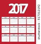 2017 calendar planner design.... | Shutterstock .eps vector #517312192