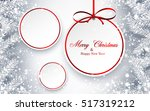christmas and new year round... | Shutterstock .eps vector #517319212