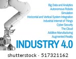 ndustry 4.0 robot arm and... | Shutterstock . vector #517321162