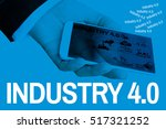 industry 4.0 bausiness man and... | Shutterstock . vector #517321252