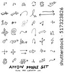 vector hand drawn arrows set | Shutterstock .eps vector #517323826