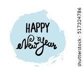 vector hand drawn new years... | Shutterstock .eps vector #517324786