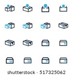 simple set of box and crates... | Shutterstock .eps vector #517325062