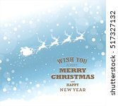 christmas greeting card with... | Shutterstock .eps vector #517327132