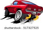 vector racing car.... | Shutterstock .eps vector #517327525