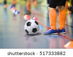 children training soccer futsal ... | Shutterstock . vector #517333882