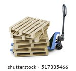 Pallets On A Forklift Isolated...