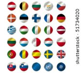 icons with european union flags ... | Shutterstock .eps vector #51734020
