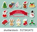 christmas icon set | Shutterstock .eps vector #517341472