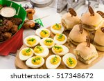 snacks for watching a football... | Shutterstock . vector #517348672