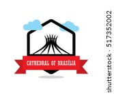 cathedral of brasilia ribbon...   Shutterstock .eps vector #517352002