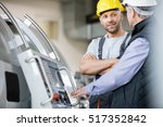 mid adult manual worker having... | Shutterstock . vector #517352842