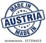 made in austria. stamp. | Shutterstock .eps vector #517356415