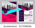 modern brochure layout design... | Shutterstock .eps vector #517358356