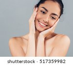 woman face beauty portrait with ... | Shutterstock . vector #517359982