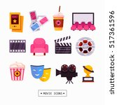 movie icons | Shutterstock .eps vector #517361596