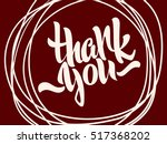 thank you lettering. hand... | Shutterstock .eps vector #517368202
