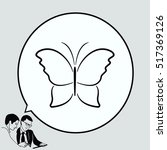 butterfly icon  vector... | Shutterstock .eps vector #517369126