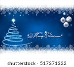 christmas background with... | Shutterstock .eps vector #517371322