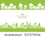 ecology connection  concept... | Shutterstock .eps vector #517375516