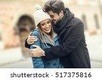 hug on the street.   Shutterstock . vector #517375816