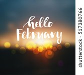 vector hello  february poster  | Shutterstock .eps vector #517380766