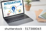 interaction integration company ... | Shutterstock . vector #517388065