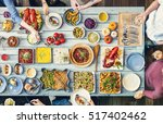 food catering cuisine culinary... | Shutterstock . vector #517402462